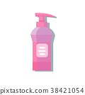 Bottle dispenser with red pink liquid soap 38421054