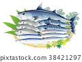 ปลาแซลมอนปลาแซลมอนสีน้ำเงิน 38421297