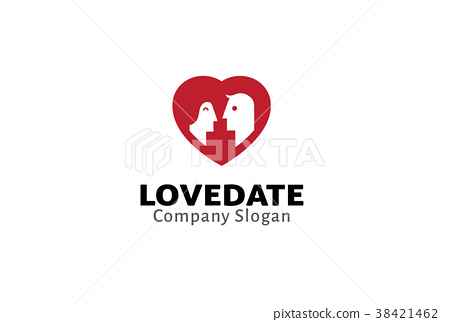 Love Date Logo Design Illustration 38421462