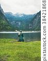 湖泊 湖 女性 38421868