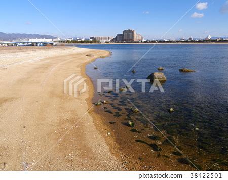 甲子園浜 해변 공원 / 연안 지역의 모래보다 롯 코산 계를 원하는 38422501