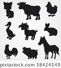 farm, animal, silhouette 38424549
