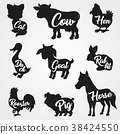 farm, animal, silhouette 38424550