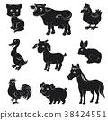 farm, animal, silhouette 38424551
