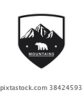 Polar bear mountain icon 38424593