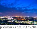 공장 야경, 연기, 공업 지대 38425786
