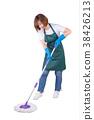 家庭主婦 清潔 拖把 38426213