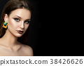 Portrait of young woman with beautiful makeup 38426626