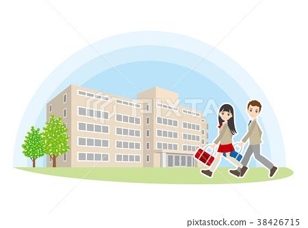 Illustration of high school friends 38426715