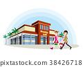 친구와 쇼핑의 일러스트 38426718