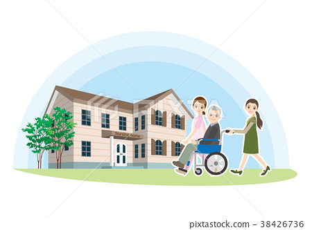 老人關心的例證 38426736