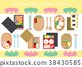 Japanese Bento Box Lunch Background 38430585