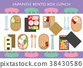 Japanese Bento Box Lunch Background 38430586