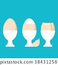 벡터, 계란, 알 38431256