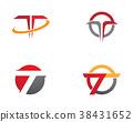 T Letter Faster Logo Template 38431652