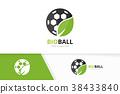 leaf, soccer, logo 38433840