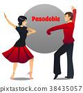 couple pasodoble cartoon 38435057