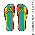 flip flops, slippers vector symbol icon design. 38435861