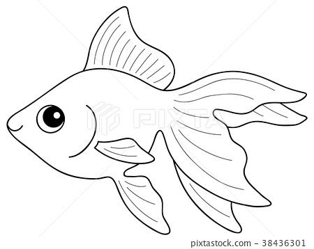 Goldfish Goldfish Coloring page - Stock Illustration ...