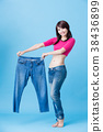 woman show weight loss 38436899