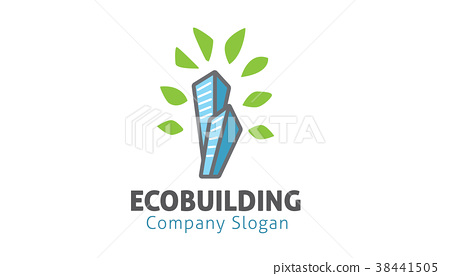 Eco Building Logo Design Illustration 38441505