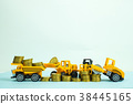 Mini forklift bulldozer truck machine with coin 38445165