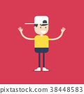 Happy boy cartoon. 38448583