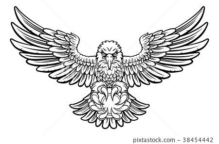 Eagle Tennis Sports Mascot 38454442
