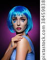 beautiful girl with pop art makeup 38459838