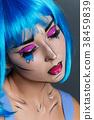 beautiful girl with pop art makeup 38459839