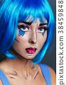 beautiful girl with pop art makeup 38459848