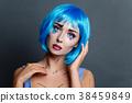 beautiful girl with pop art makeup 38459849