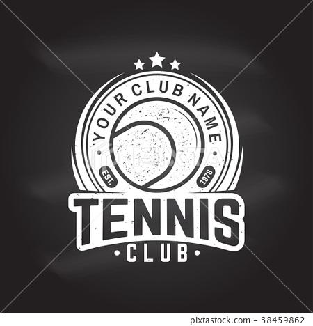 Tennis club. Vector illustration. 38459862