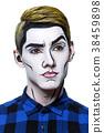 young man with pop art makeup 38459898