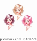 Girls with different hair colors 38460774
