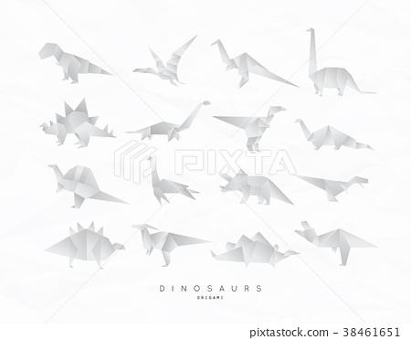 Dinosaurus origami set 38461651