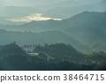 아흔 아홉 계곡 아침 놀 풍경 (치바현 키 미츠시 시카 노산) 2017 년 1 월 촬영 38464715