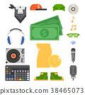 Hip hop man accessory musician vector accessories 38465073