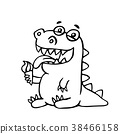 dinosaur, character, cartoon 38466158