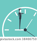 Businessman see a watch standing on clock. 38466750