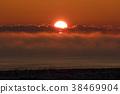 바다, 새벽, 일출 38469904