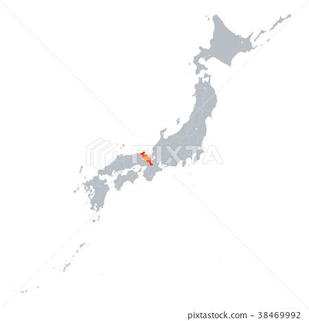 교토지도 일본 열도 38469992