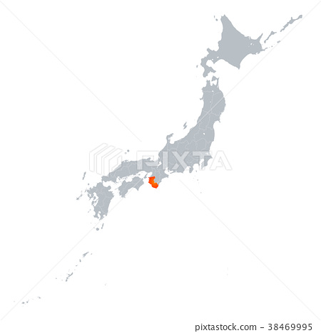 와카야마 현지도 일본 열도 38469995
