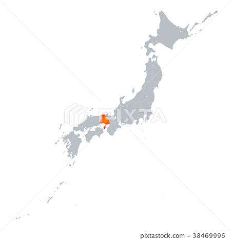 효고현지도 일본 열도 38469996