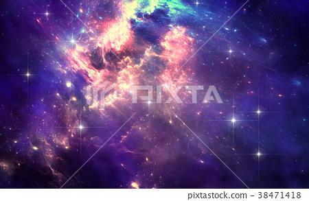 Deep space nebula with stars 38471418