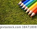 이끼와 색 연필 38471808