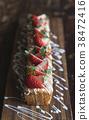 strawberries, strawberry, cake 38472416