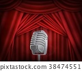 theater, curtain, microphone 38474551