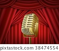 theater, curtain, microphone 38474554