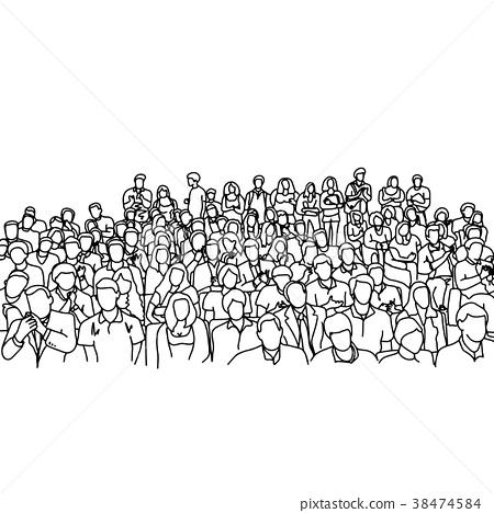 crowd people in meeting slope room  38474584